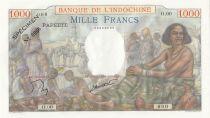 Tahiti 1000 Francs Market Scene- 1957 - Serial O.00 - Specimen n°0066 - UNC