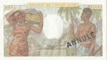 Tahiti 1000 Francs Scène de marché - 1954 - Série P.11 - Spécimen annulé - SUP