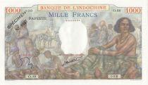 Tahiti 1000 Francs Scène de marché - 1957 - Série O.00 - Spécimen n°0067 - NEUF