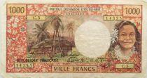 Tahiti 1000 Francs Tahitienne ND (1983) - Hibiscus - Série C.5 - PTTB