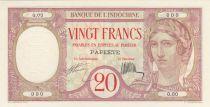 Tahiti 20 Francs - Papeete - Banque de l\'Indochine 1928 - Spécimen - NEUF