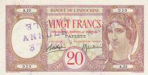 Tahiti 20 Francs - Papeete - Banque de l\'Indochine 1928 - Spécimen annulé - SUP