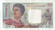 Tahiti 20 Francs Jeune Berger - 1954