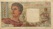 Tahiti 20 Francs Jeune Berger Papeete - 1963 - TB