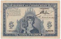 Tahiti 5 Francs, Minerve - 1944 - 1032982 - SUP +