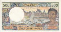 Tahiti 500 Francs Pêcheur et pirogues - 1969 - Série E.1