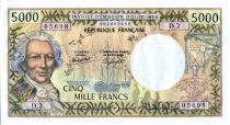 Tahiti 5000 Francs Bougainville - Trois-mâts - 1982