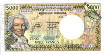 Tahiti 5000 Francs Bougainville - Trois-mâts