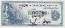 Tahiti P.18 1000 Francs, Statues d\'Angkor - Imp. Américaine 1943