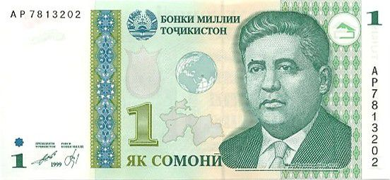 Tajikistan 1 Somoni M. Tursunzoda - National Bank