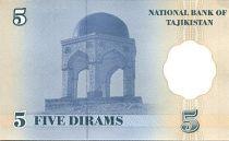 Tajikistan 5 Dirams Culture Palace - Shrine of M. Tursunzoda - 1999
