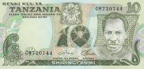 Tanzania 10 Schillingi J. Nyerere - 1978