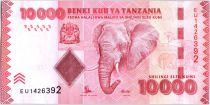 Tanzania 10000 Schillingi Elephant - Bank - 2015