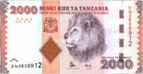 Tanzanie 2000 Schillingi Lion - 2010 Série DN