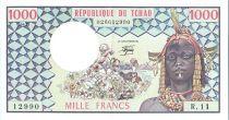 Tchad 1000 Francs  Femme - Coton en fleur - 1978