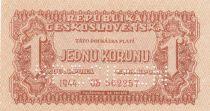 Tchécoslovaquie 1 Korun 1944 - Marron - Série OB - Spécimen