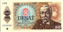 Tchécoslovaquie 10 Korun- Pavol Orszagh Hviezdoslav - 1986