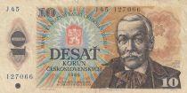 Tchécoslovaquie 10 Korun 1986 - Pavol Orszag Hviezdoslav, Montagnes - Série J45