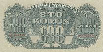 Tchécoslovaquie 100 Korun 1944 - Vert - Série AO - Spécimen