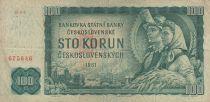 Tchécoslovaquie 100 Korun 1961 - Paysans, usine, Prague - Série B04