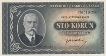Tchécoslovaquie 100 Korun Tomas G. Masaryk - 1948 - P.63a - Neuf