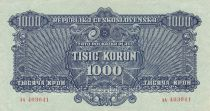 Tchécoslovaquie 1000 Korun 1944 - Bleu - Série AA, Spécimen