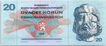 Tchécoslovaquie 20 Korun - Jan Zizka - Armoiries - 1970