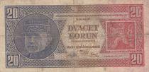 Tchécoslovaquie 20 Korun 1926 Rastislav Stefanik, A. Rasin