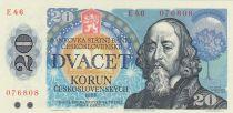 Tchécoslovaquie 20 Korun 1988 - Jan Amos Komensky - Série E46