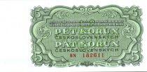 Tchécoslovaquie 5 Korun Vert - Armoiries socialistes - 1961