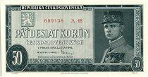 Tchécoslovaquie 50 Korun - Général R Stéfanik - 1948
