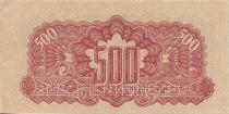 Tchécoslovaquie 500 Korun Rouge