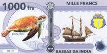 Terres Australes Françaises 1000 Francs Bassas da India - Tortue, navire - 2018 - Fantaisie