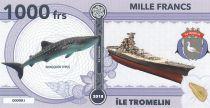 Terres Australes Françaises 1000 Francs Ile Tromelin - Baleine, Armoiries - 2018 - Fantaisie