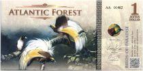 Territoires Equatoriaux 1 Aves Dollar, Atlantic Forest - Oiseaux de Paradis - 2015