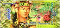 Territoires Equatoriaux 20 Francs, Borneo - Femme indigène - Martin-Pêcheur, guerrier et musicienne 2014