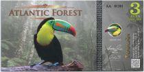 Territoires Equatoriaux 3 Aves Dollars, Atlantic Forest - Toucan - 2015