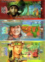 Territoires Equatoriaux 35 Francs, Série de 3 billets : Amazona - Isabela Island - Borneo 2014