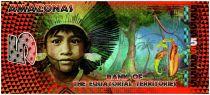 Territoires Equatoriaux 5 Francs, Amazonas - Indien Grenouille et danseurs - 2014