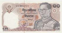Thailand 10 Baht, Rama IX - 1980 Sign. 53 - UNC
