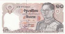 Thailand 10 Baht, Rama IX - 1980 Sign. 56 - UNC