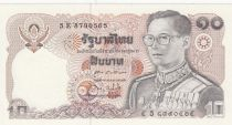Thailand 10 Baht, Rama IX - 1980 Sign. 60 - UNC