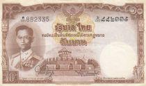 Thailand 10 Baht Rama IX - 1955 - P.76d - XF - Serial W.595