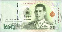 Thailand 20 Baht Rama X, Rama I and II - 2019 - Sign.17 - UNC - P.135