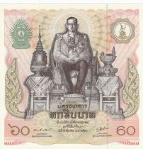 Thailand 60 Baht Rama IX - King 60 th birthday - 1987 - aUNC - P.93