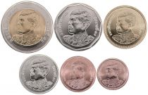 Thailand Set 6 coins 2017 - Rama X - 25 Satang to 10 Bath