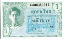Thaïlande 1 Baht Roi Rama VIII - Ornements  - 1946