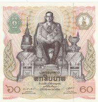 Thaïlande 60 Baht Rama IX - 60ans du Roi - 1987 - P.Neuf - P.93
