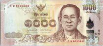 Thaïlande New.2015 1000 Baht, Rama IX - 2015