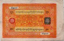 Tibet 100 Srang Lions -Orange et jaune - 1942